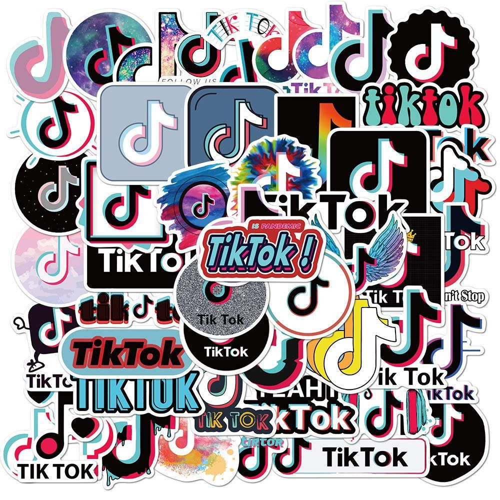 Tiktok Logo Stickers Logo Sticker Cute Emoji Wallpaper Birthday Party Theme Decorations