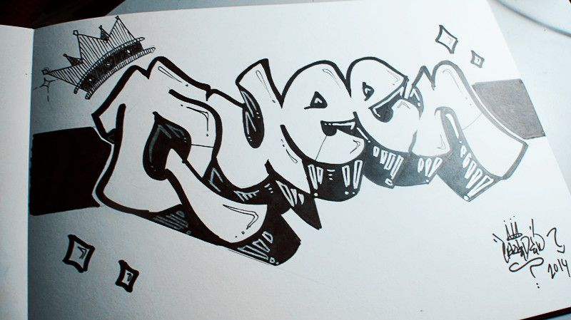 graffiti zum ausmalen queen - malvorlagen