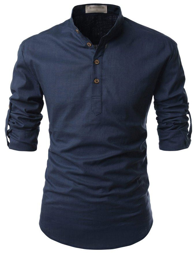 c9f5d199 Nearkin Beloved Men Henley Neck Long Sleeve Daily Look Linen Shirts at  Amazon Men's Clothing store: