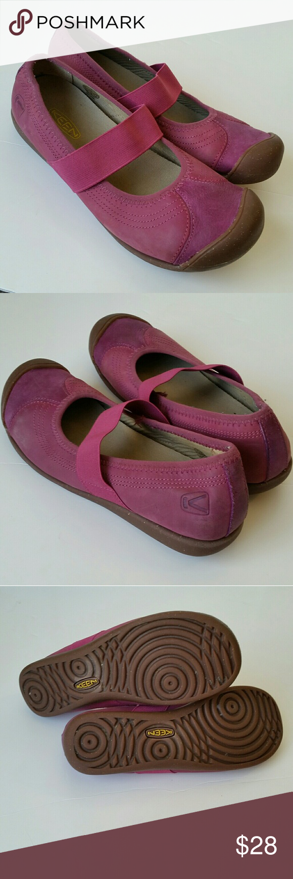 KEEN Pink Mary Jane Walking Shoe Excellent condition. Berry pink. Keen Shoes