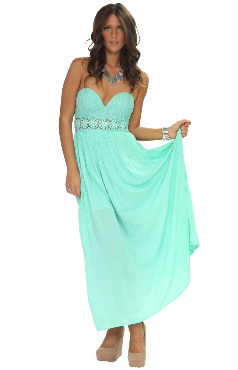 Daydreamer mint green maxi dress my dream closet pinterest