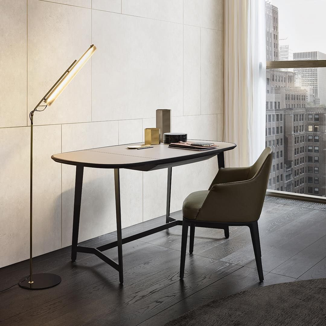 Poliform On Instagram With Its Slender Silhouette And Clean Design Mathieu Writing Desk Is An Ideal Furniture El Interior Furniture Poliform Table Furniture