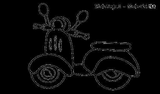 Mewarnai Gambar Sepeda Motor Vespa Coloring Vespa