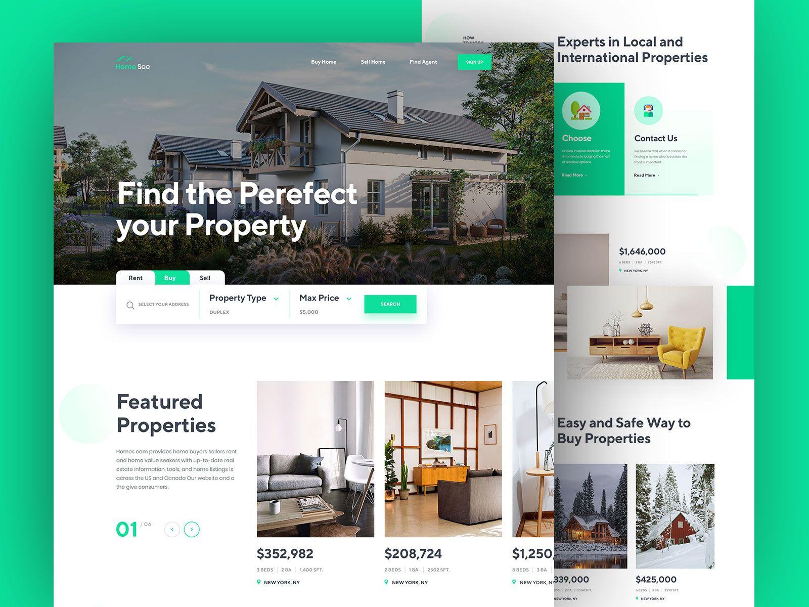 Real Estate Landing Page Concept Real Estate Landing Pages Real Estate Website Design Real Estates Design