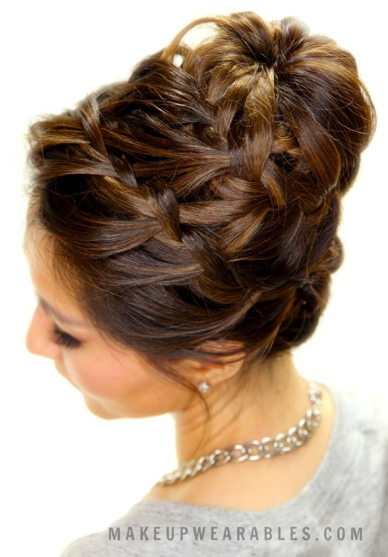 Epic braid bun hair tutorial cute updo hairstyles womenus world