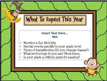 open house monkey jungle themed powerpoint template tons of