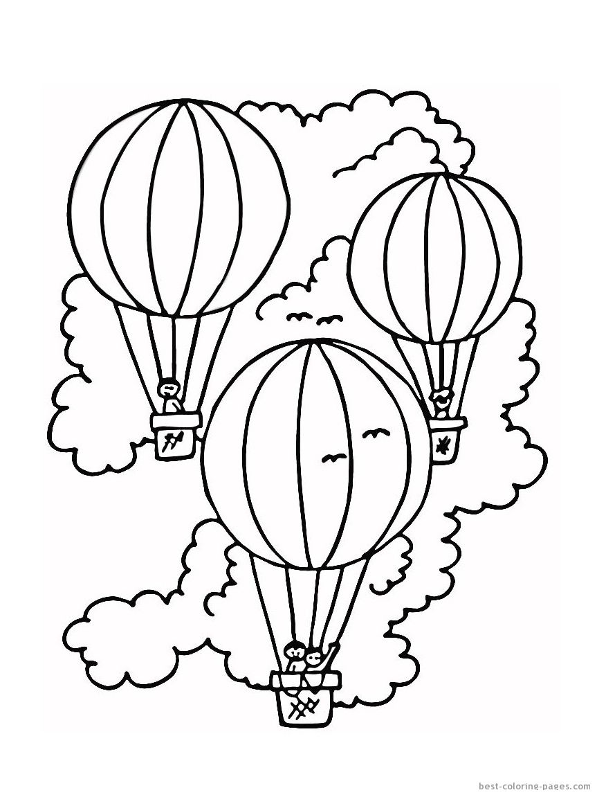 Hot Air Balloon Coloring Pages Electric Scooters come in a variety ...