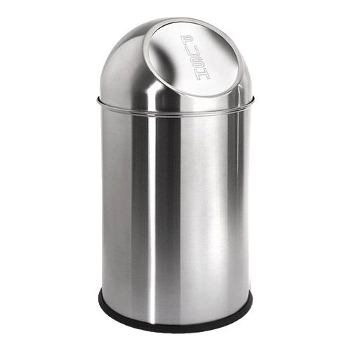 Round Stainless Steel Trash Can 26 Gallon Is A Small Contemporary