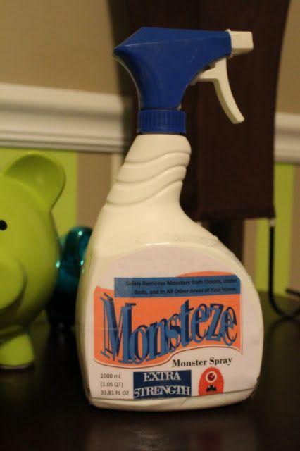 """Harris Sisters GirlTalk: Free Printable for """"Monsteze"""" Monster Spray for Standard Febreze Bottle"""