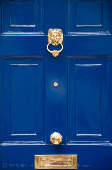 Lion knocker on blue door if it is a stone house  sc 1 st  Pinterest & I think I\u0027d like to paint our new front door this color...sort of ...