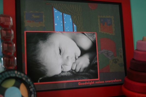 Children's book pages as photo mats-choose their favourite bedtime story:)