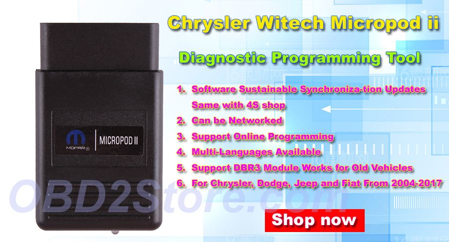Chrysler Witech Micropod 2 Clone Online Version With V17 04 27