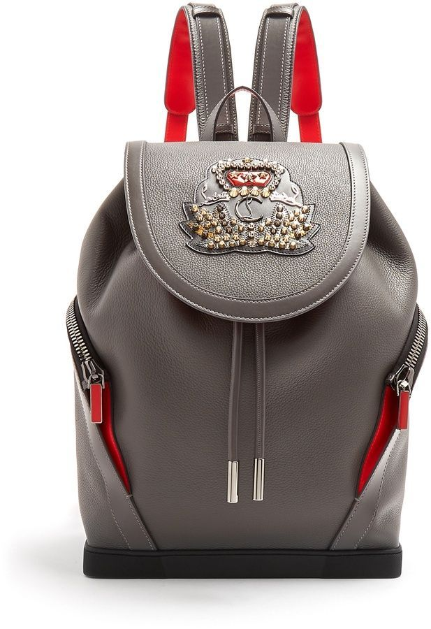 76f5c648228 Christian Louboutin Explorafunk stud-embellished backpack | Men's ...