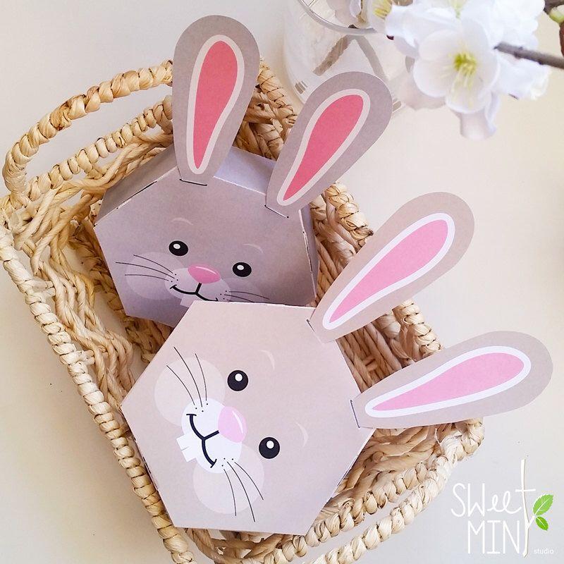 Printable bunny box diy digital download rabbit party favor gift printable bunny box diy digital download rabbit party favor gift box easter negle Image collections