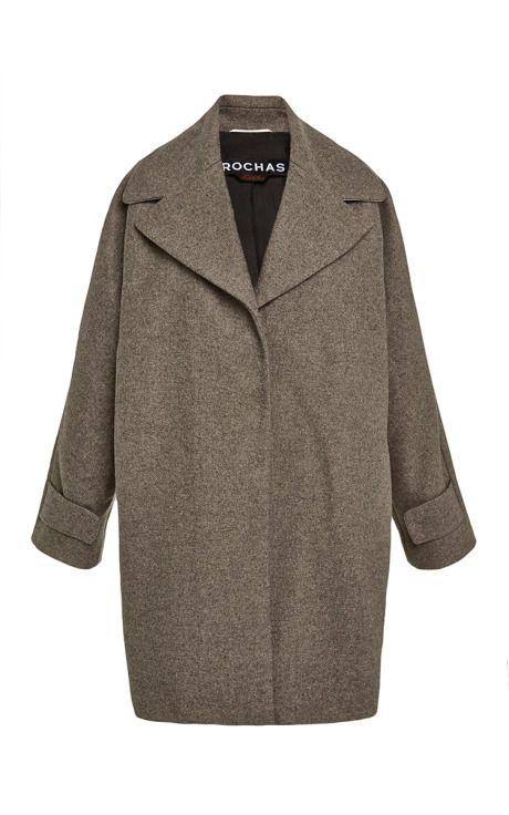 Shop Oversized Brushed-Twill Coat by Rochas Now Available on Moda Operandi