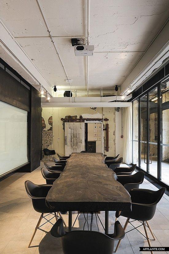 Si je pouvais avoir çe type de salle de réunion...