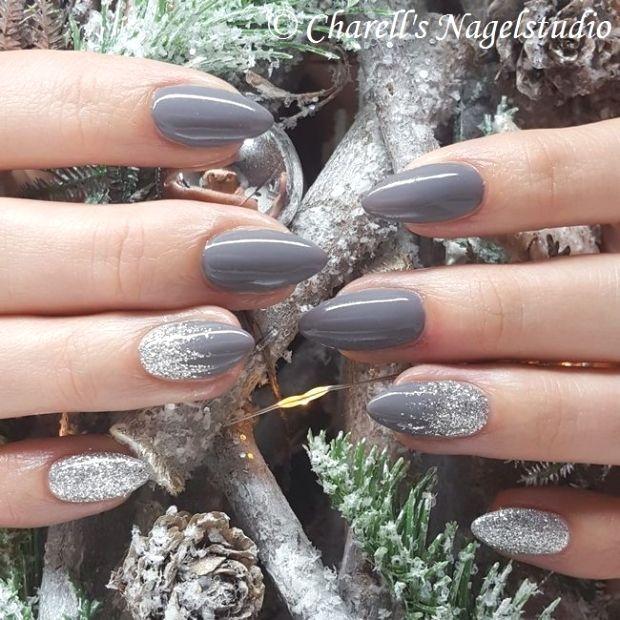 Grey Silver Glitter Nails Grey Silver Glitter Nails Grey Silver Glitter Silver Nails Silver Glitter Nails Winter Nails Acrylic
