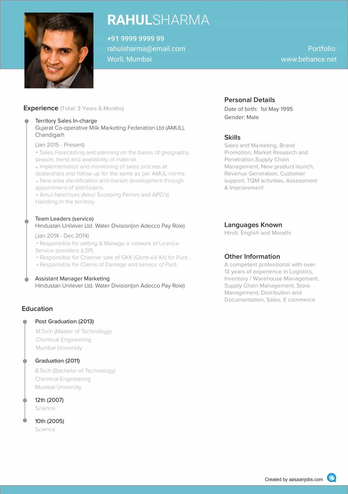 Latest Resume Template For Experienced Resume Format Jobs Resume Resume Format Resume