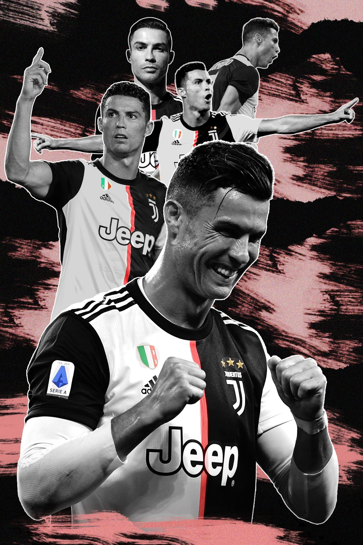 Digital art, photo manipulation, Juventus, CR7, football