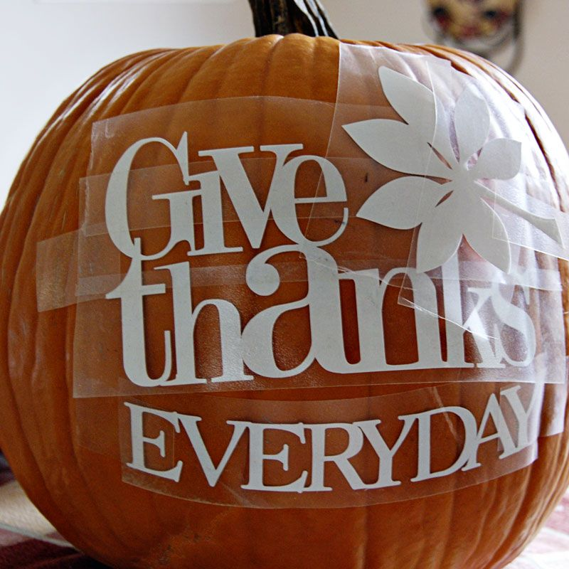 Give Thanks Everyday Pumpkin by P K Glitz