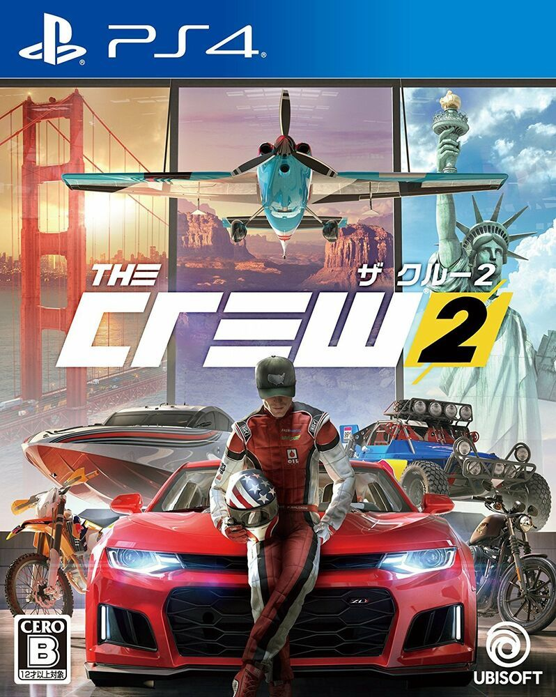 14fcb85f33c7a USED PS4 The Crew 2 JAPAN Sony PlayStation 4 import Japanese game ...
