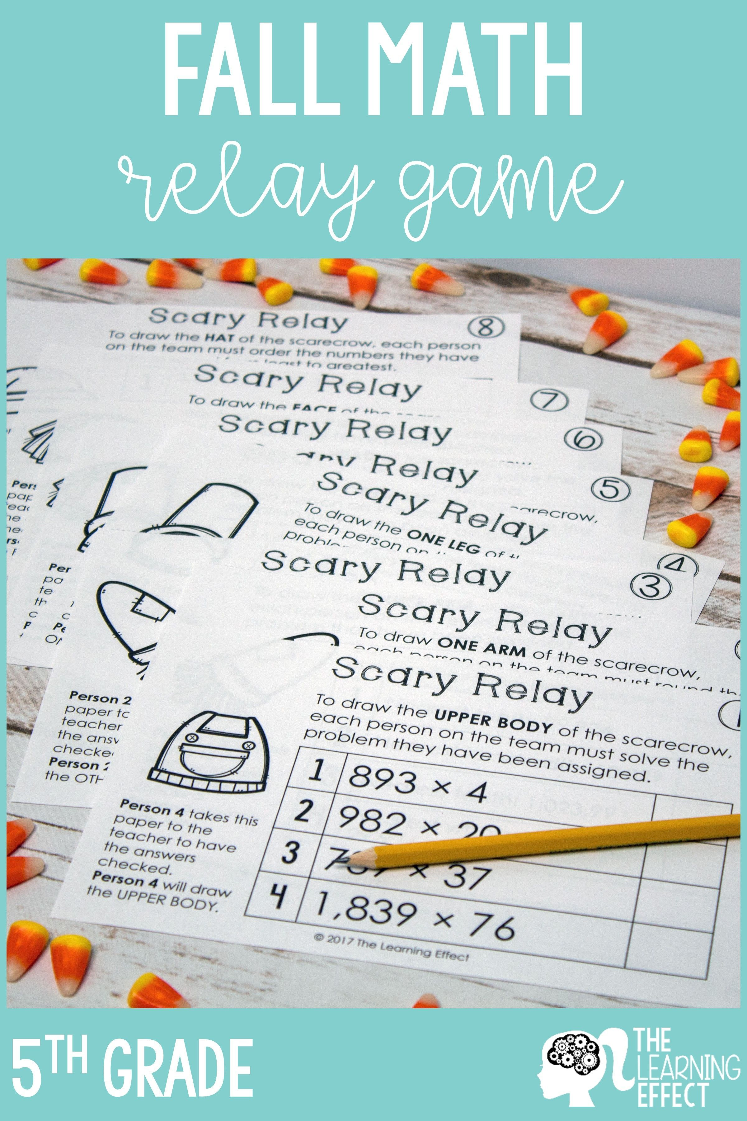 Fall Math Game For 5th Grade