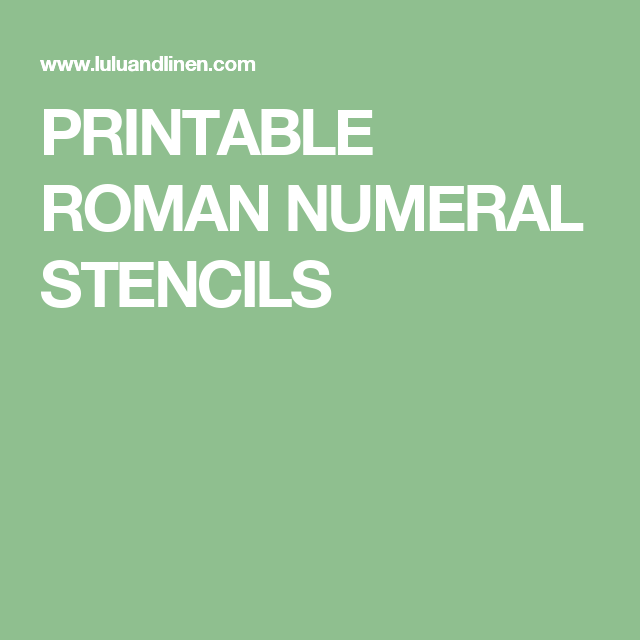 It is a photo of Unusual Roman Numerals Printable
