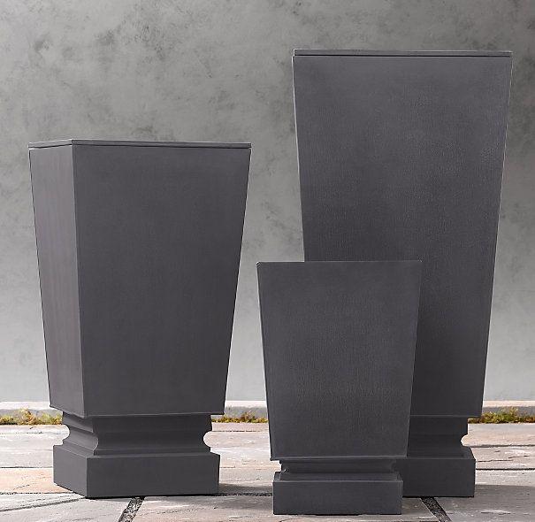 Pedestal Sheet Metal Planters Metal Planters Planters House