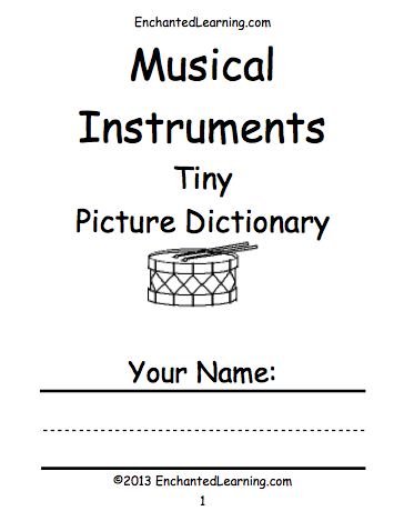 Worksheets Instrument Worksheets For Preschool music enchantedlearning com printables for theory instruments etc
