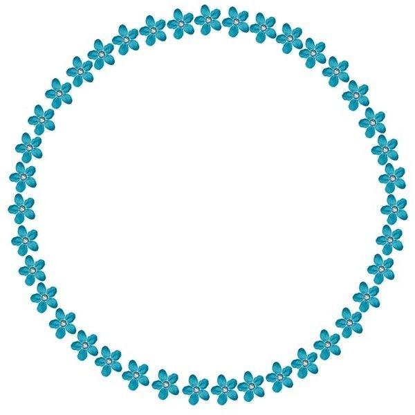 Blue Flower Outline For Circle Sets Flower Outline Blue Flowers Circle