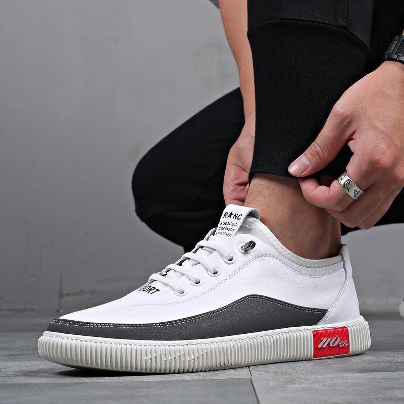 Fashion Men Comfy White Elastic Slip On