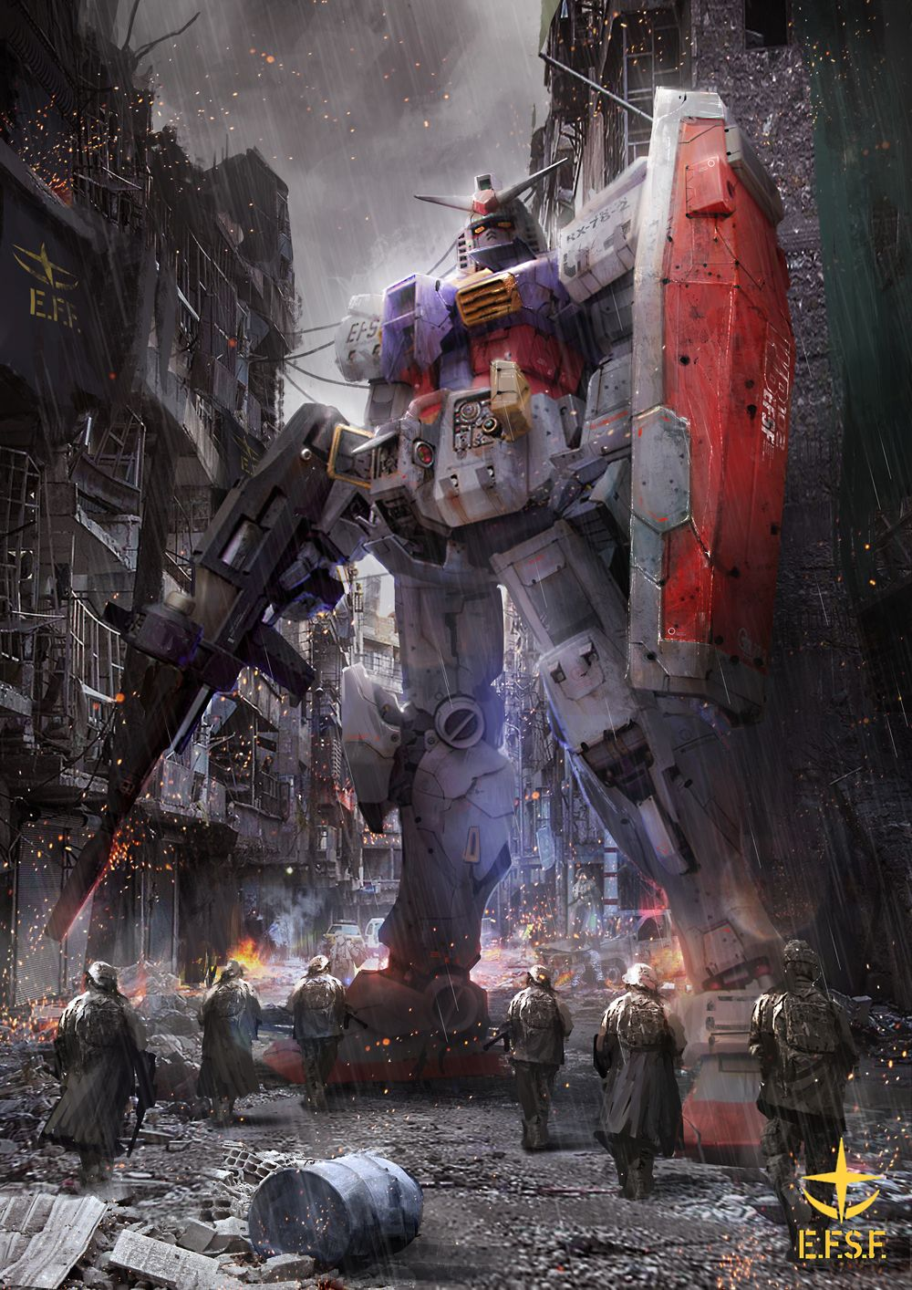 One Year War RX78 by theDURRRRIAN SF Mechs and