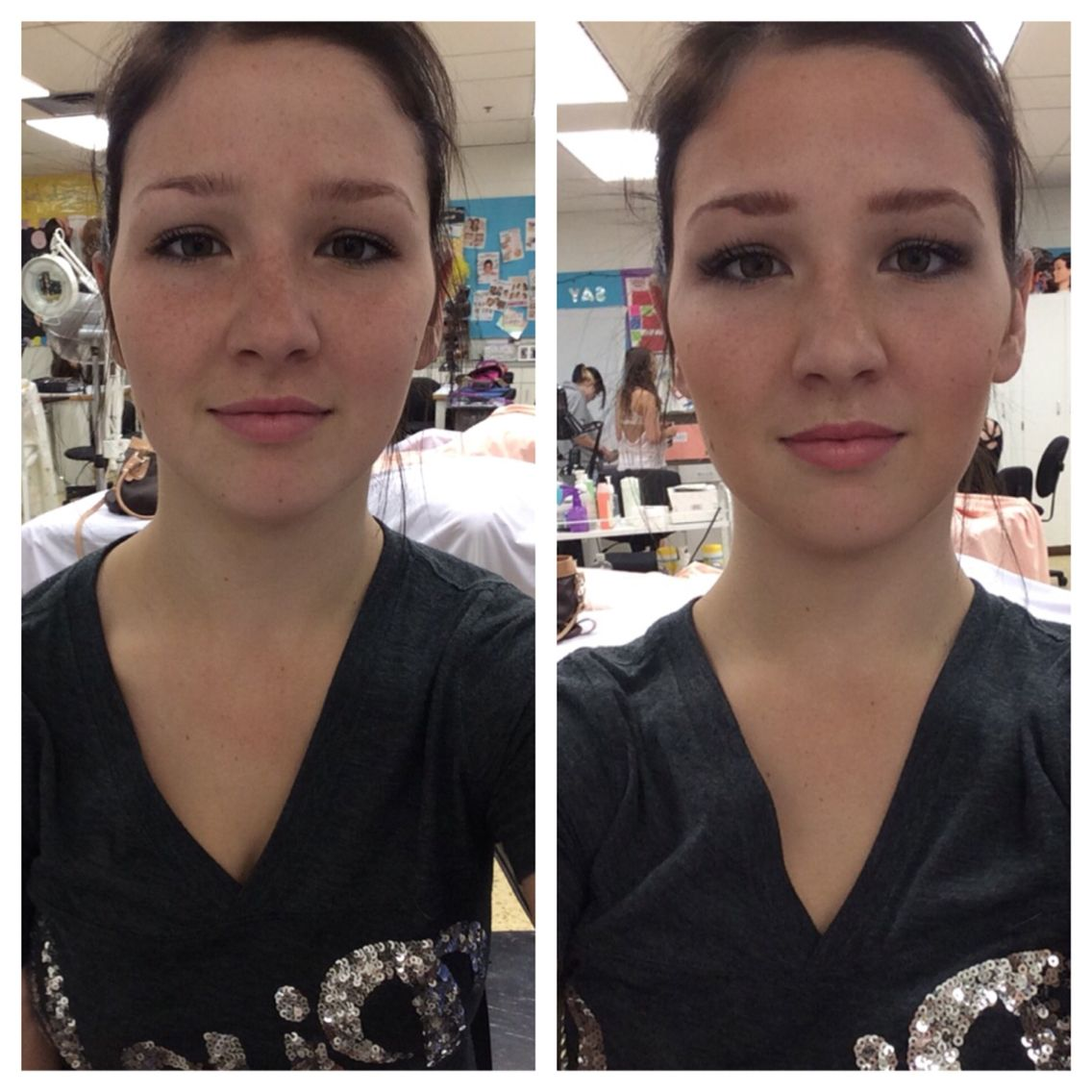 Before and After: highlighting and contouring