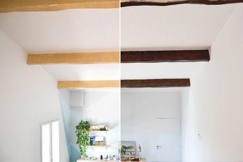 DIY Peinture poutres effet bois Pinterest Salons - Logiciel De Plan De Maison 3d Gratuit