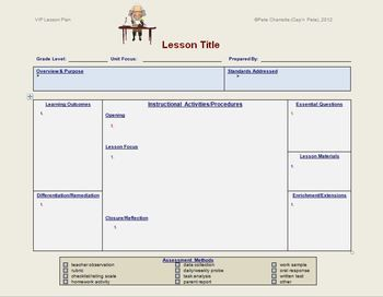 Lesson Plan Template General Education Editable  Lesson Plan