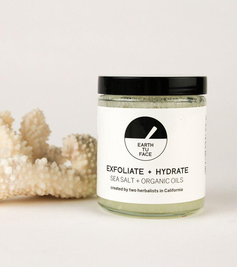 sea salt + organic oils body scrub