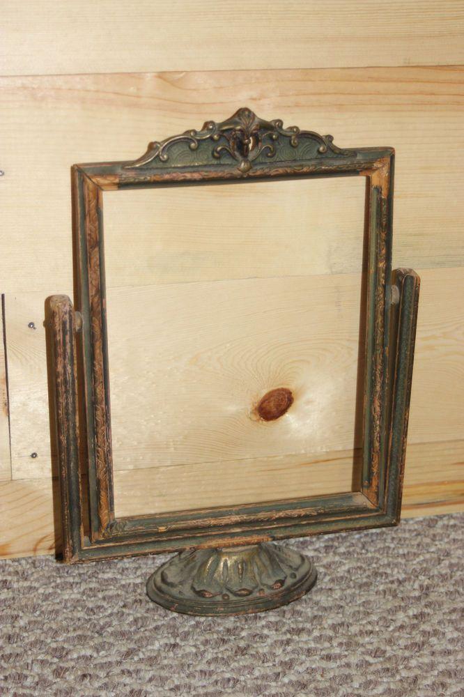 Vintage Carved Wood Nouveau Art Deco Swing Tilt Frame | table ...