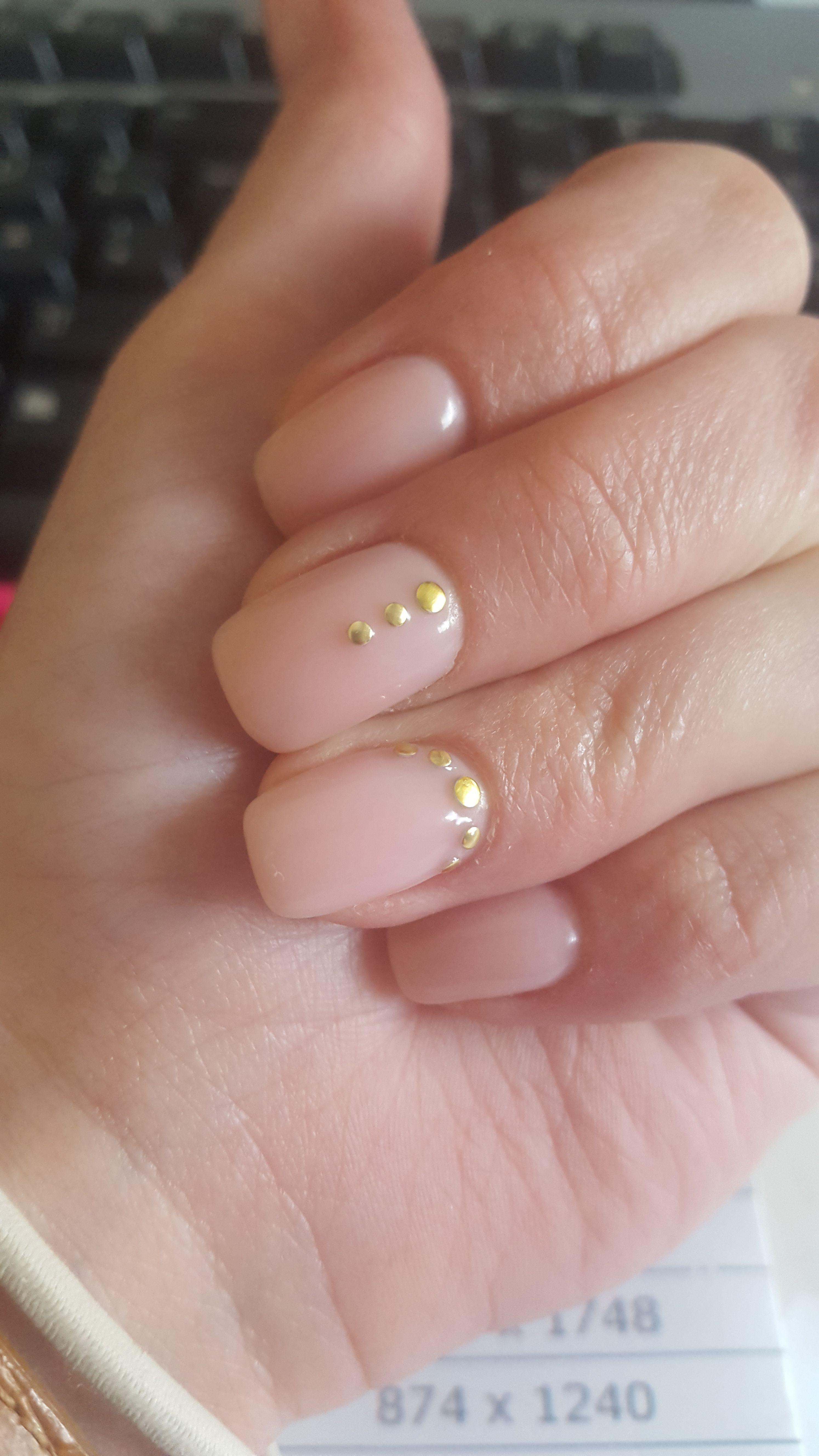 Nail Design / Gelnägel / Rosa / Goldene Steinen | Hairlich & Kayal ...