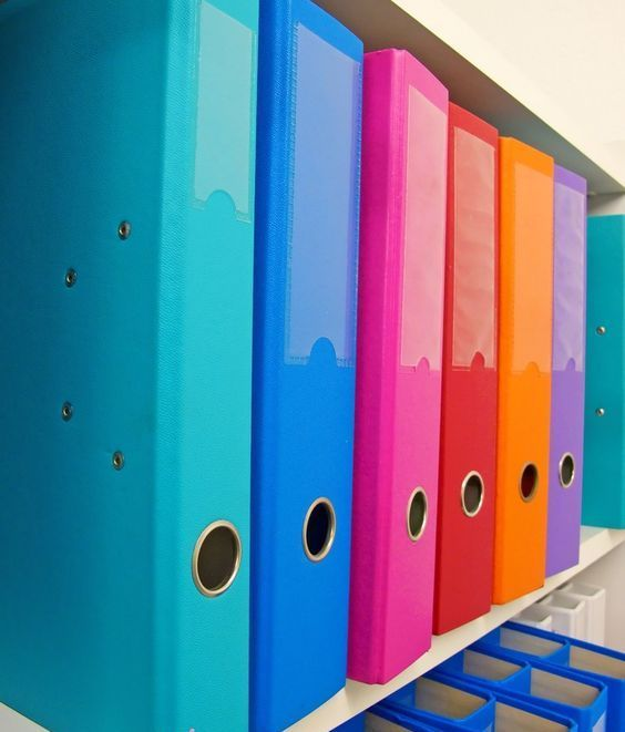 Colorful Binders Can Replace The Old Filing Cabinet System