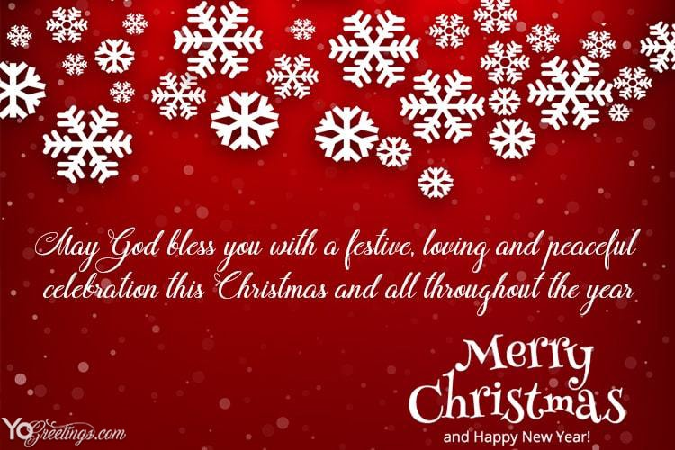 Make A Snow Christmas Greeting Card Online Free Download Christmas Greeting Cards Christmas Greetings Messages Christmas Card Template