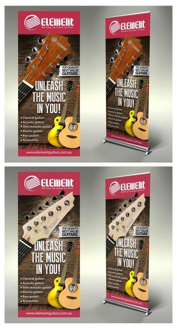 Create A Capturing Stand Up Banner For Element Guitars By Lireyblanco Banner Ads Design Web Design Trends Banner Ads
