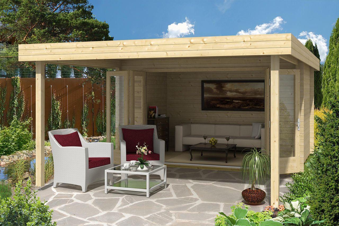 gartenhaus holstein 40 mit gro er faltt r gartenh user g rten und pergola schatten. Black Bedroom Furniture Sets. Home Design Ideas