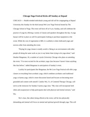 View Essay Advance Story Example From Journalism 201 1 At Northwestern University Chicago Yoga Festival School Paid New