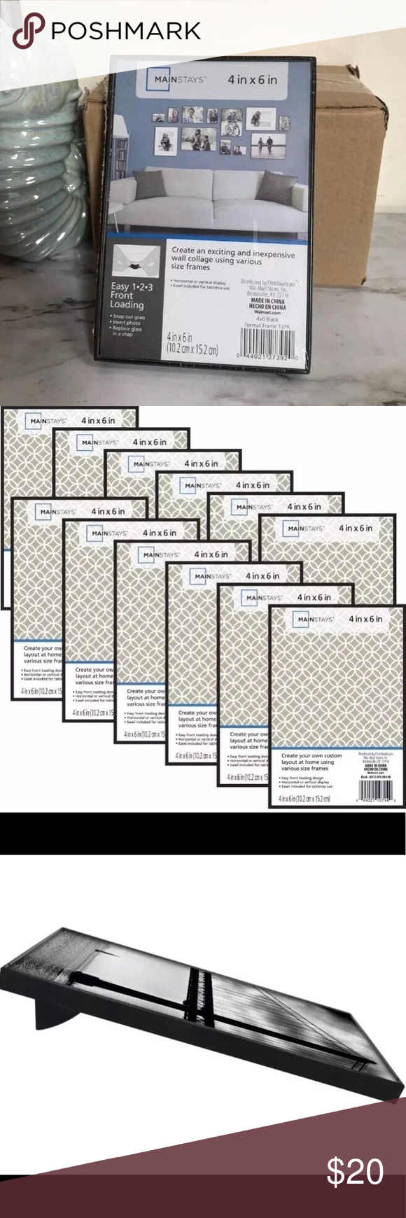 Mainstays 4x6 Format Picture Frame Set Of 12 Picture Frames Picture Frame Colors Mainstays