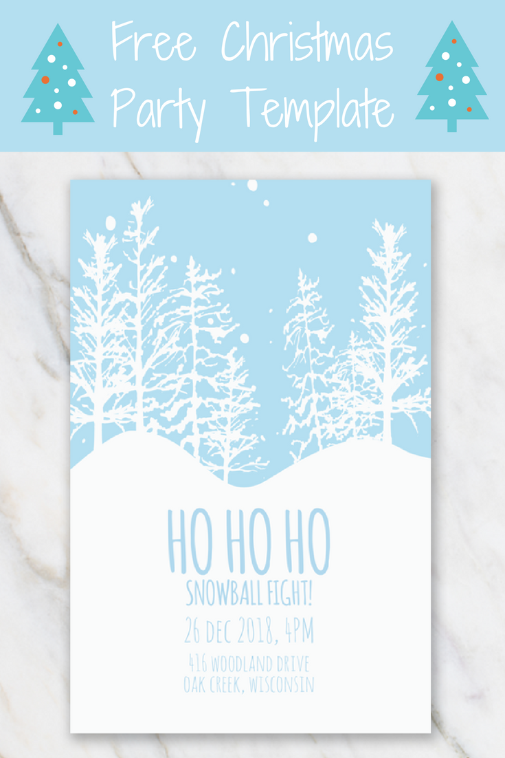 Want To Invite Friends And Family Over For A Christmas Party - Winter party invitation template free