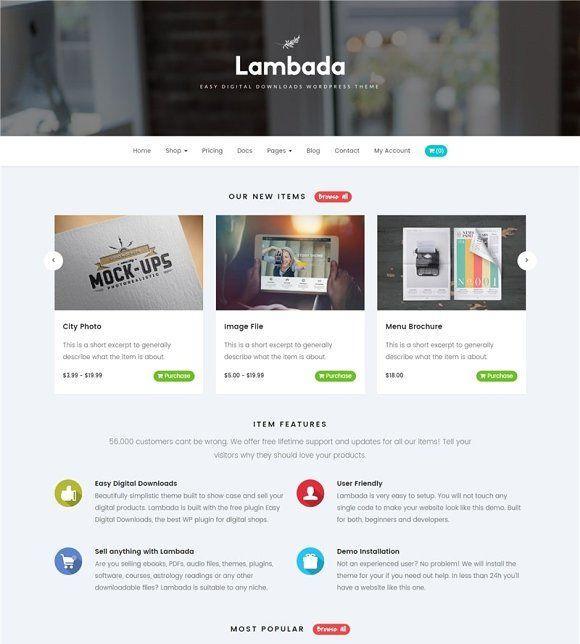 Lambada Easy Digital Downloads Digital Templates Html Templates