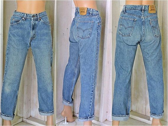 173ae5ea2a Vintage Levis 505 jeans 31 X 30 / size 7 /8 / orange tab Levis USA / high  waisted / straight leg / regular fit boyfriend jeans