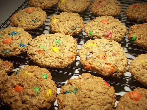 m&m Oatmeal cookeis