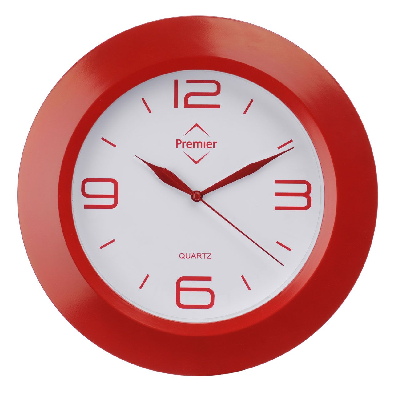 Premier housewares red wall clock 2200566 add a touch of premier housewares red wall clock 2200566 add a touch of warmth and luxury to amipublicfo Images