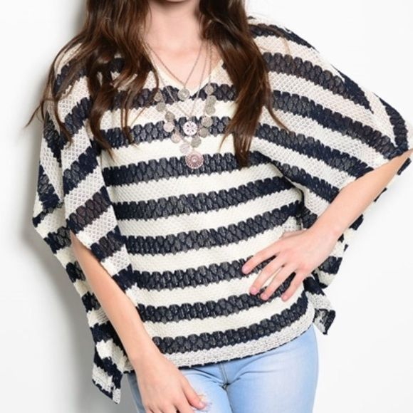 COMING SOON! Gorgeous striped batwing top! S Gorgeous top. Flattering cut! Would look great with leggings or jeans! Like this listing and I will tag you once it becomes available:) Sweaters Shrugs & Ponchos